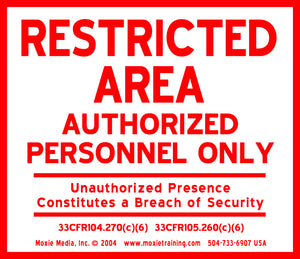 Aluminum Restricted Area Sign