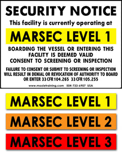 "MARSEC Level Security Notice Combo Sign - 24"" x 32"""