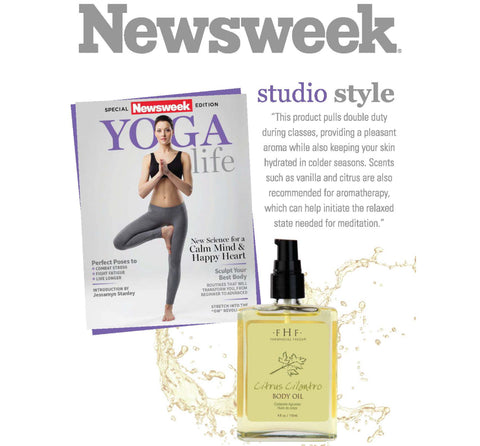 Newsweek Citrus Cilantro Body Oil