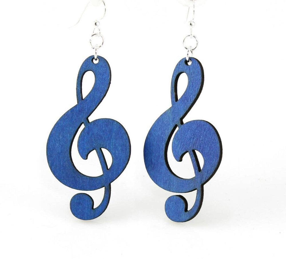 Green Tree Jewelry - Treble Clef Earrings