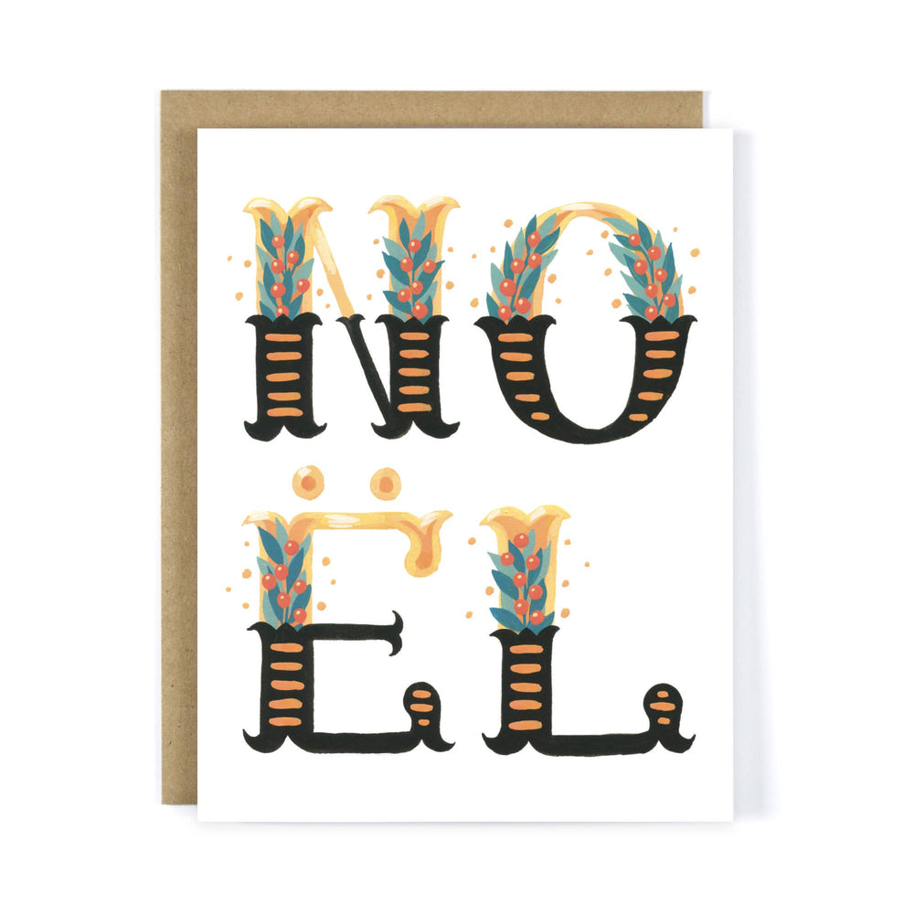 Four Wet Feet Studio - Floral Noël / Noel - Christmas Greeting Card Set