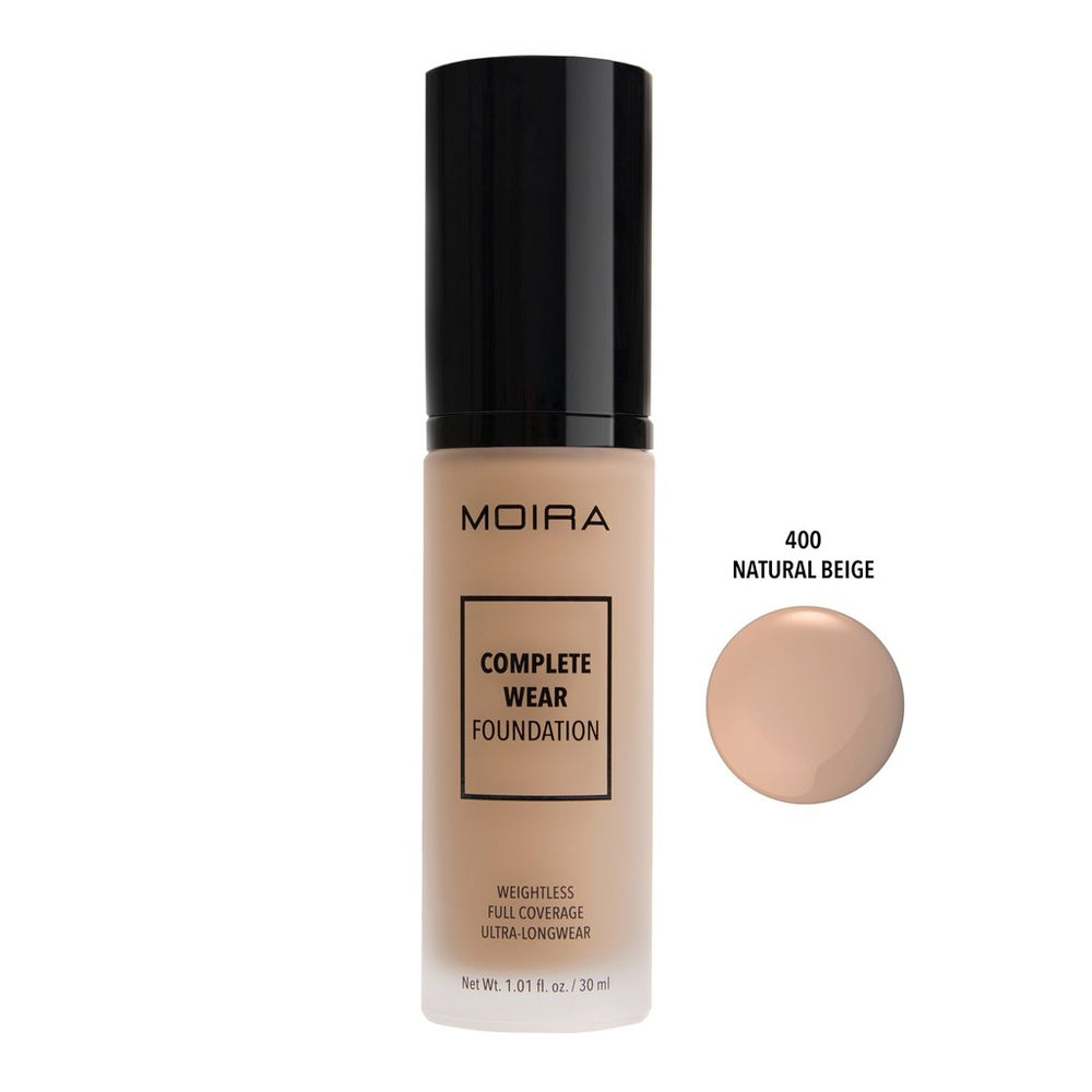 Moira Cosmetics - Complete Wear Foundation 400 - Natural Beige