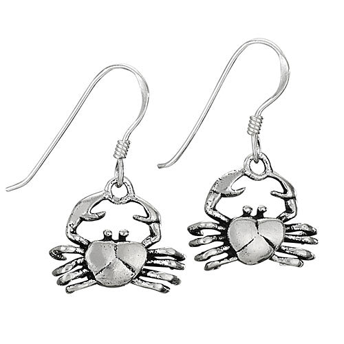 Sterling Silver Crab Earrings