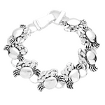 METAL CRAB MAGNETIC LINK BRACELET