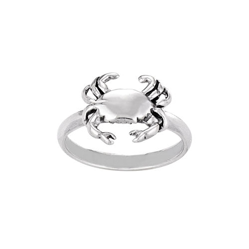 Sterling Silver Crab Ring