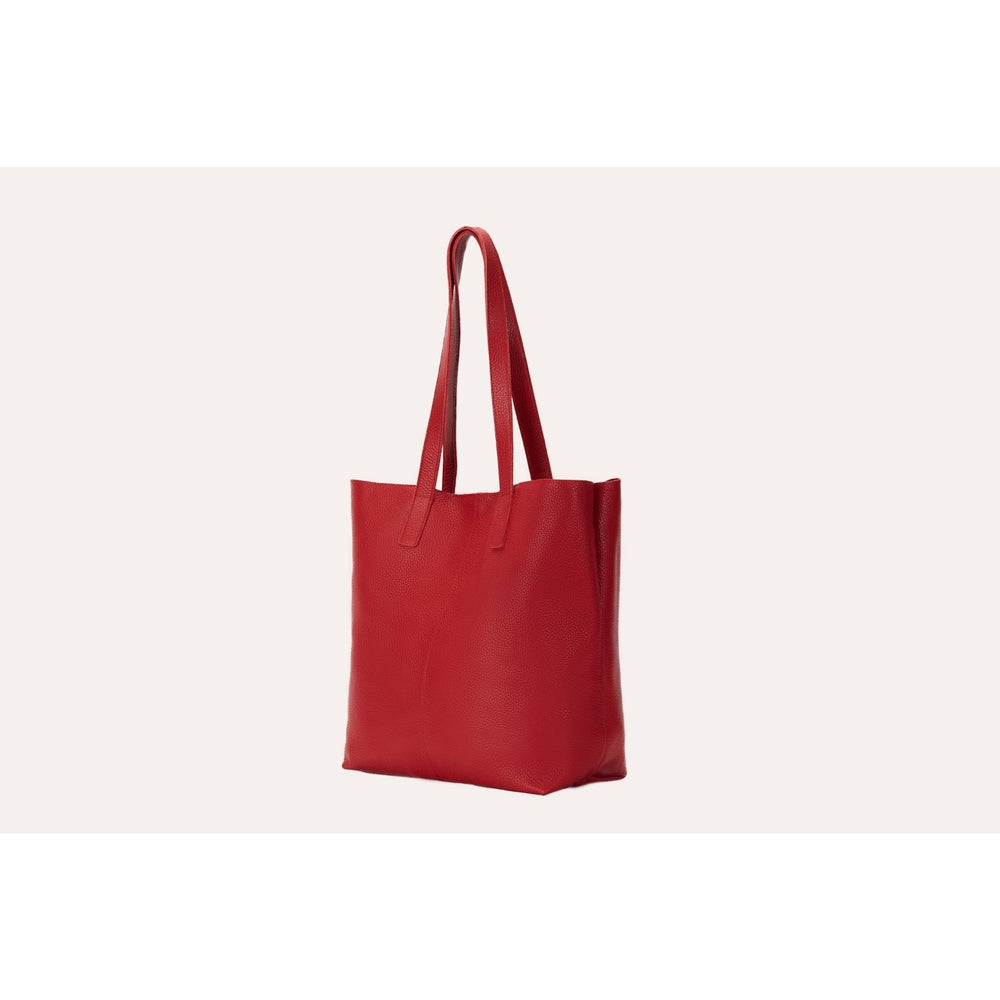 Red Journalist Tote
