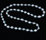 Freshwater Pearl and Turquoise Necklace
