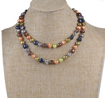 Multicolored Freshwater Pearl Long Necklace