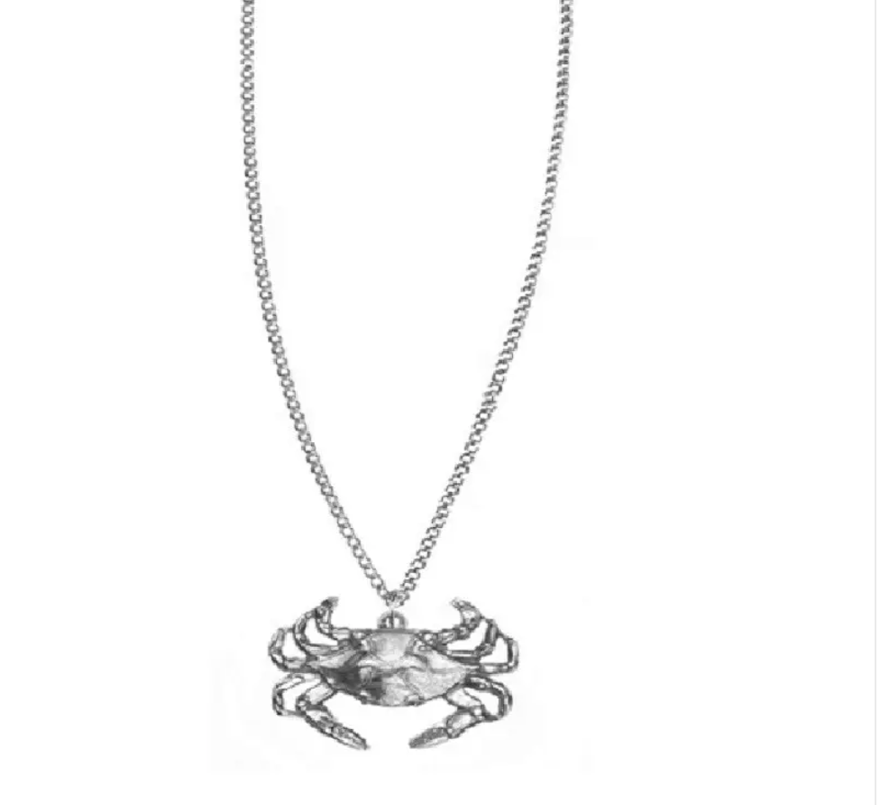 Pewter Crab Necklace