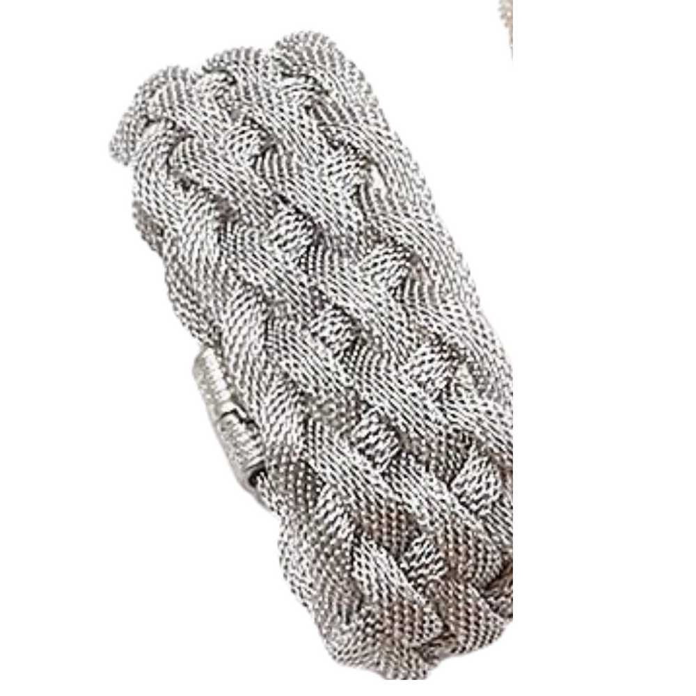 Gold Mesh Bracelet with Magnetic Closure