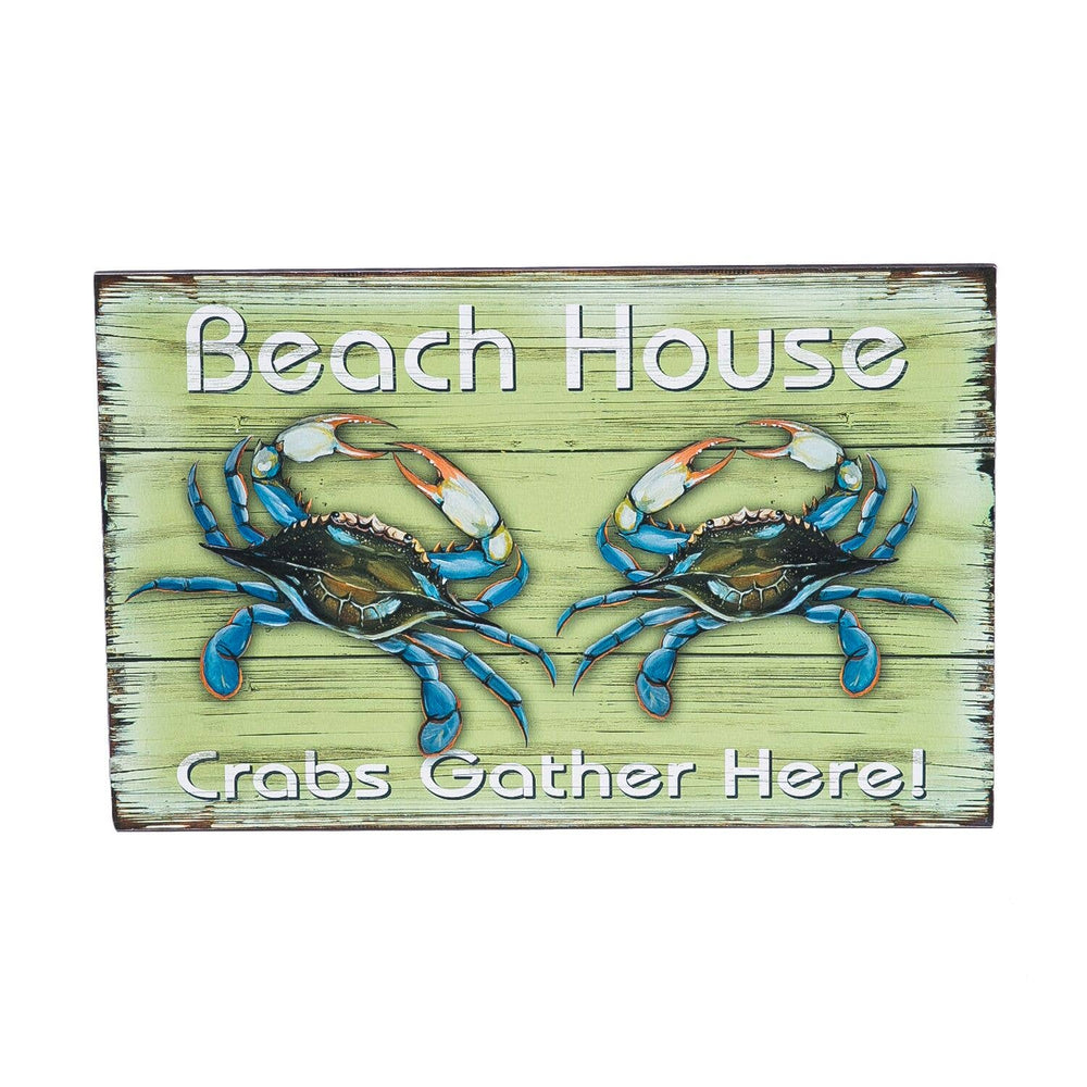 Beach House Crabs Sign