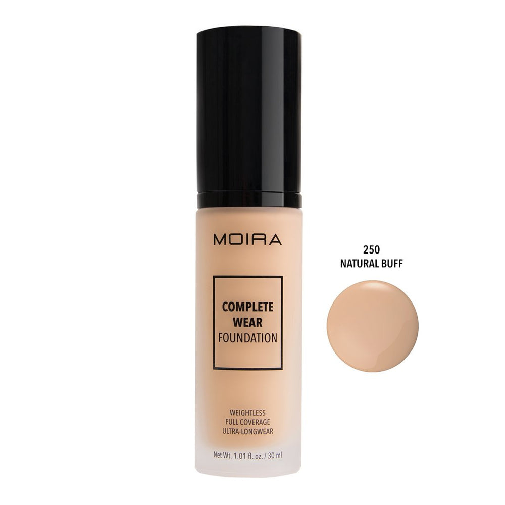 Moira Cosmetics - Complete Wear Foundation 250 - Natural Buff