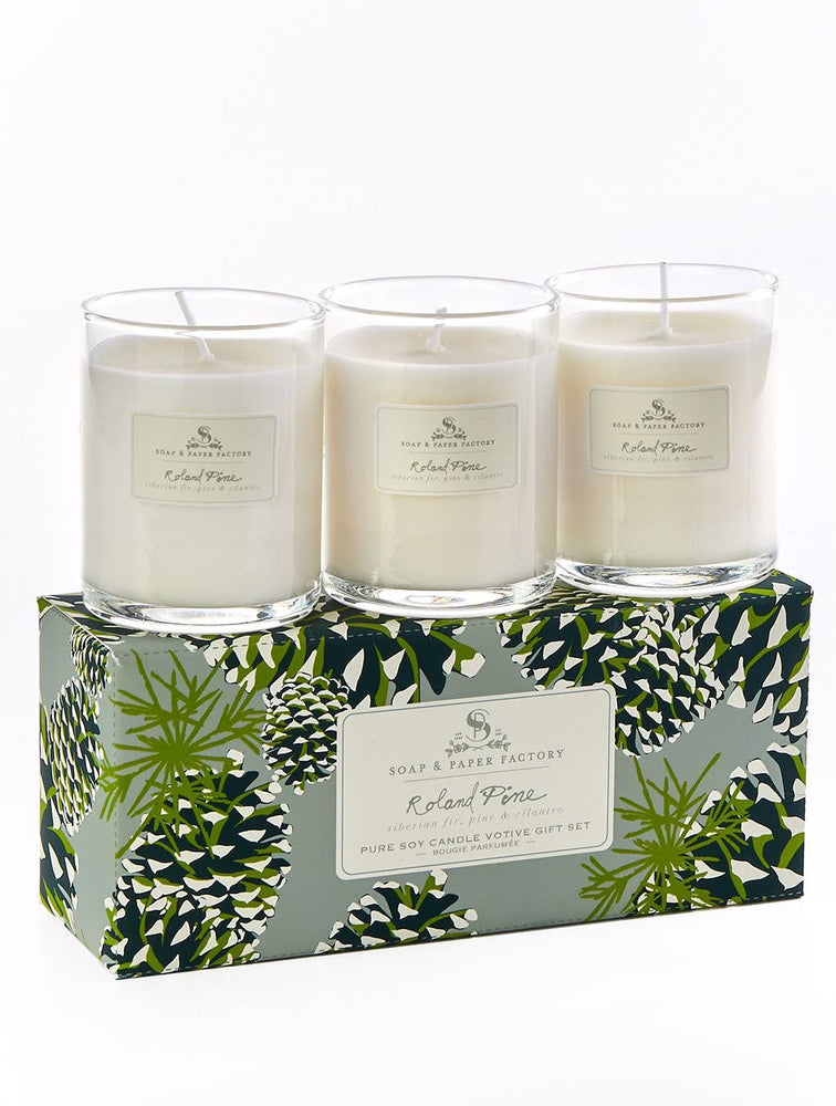 Soap & Paper Factory - Roland Pine 3 Votive Set