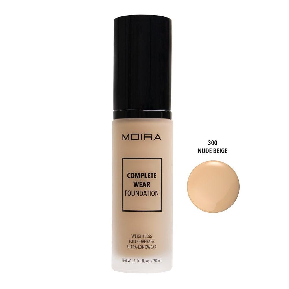 Moira Cosmetics - Complete Wear Foundation 300 - Nude Beige