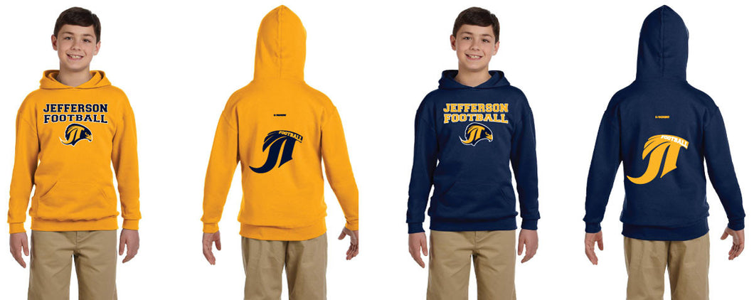 Jefferson Football Cotton  Hoodie