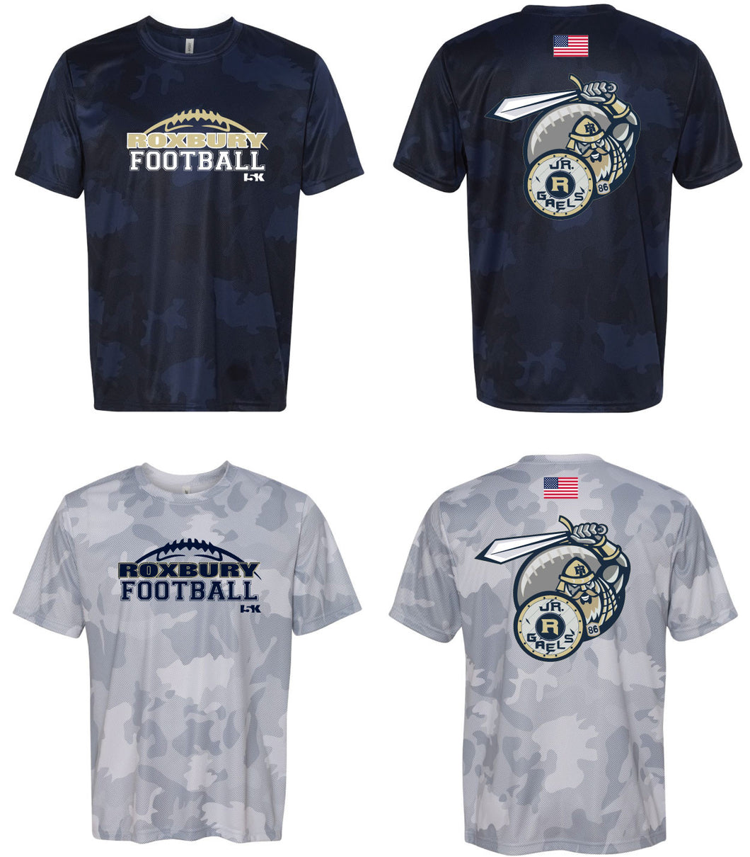 Roxbury Football - Laser Camo Tech Tee