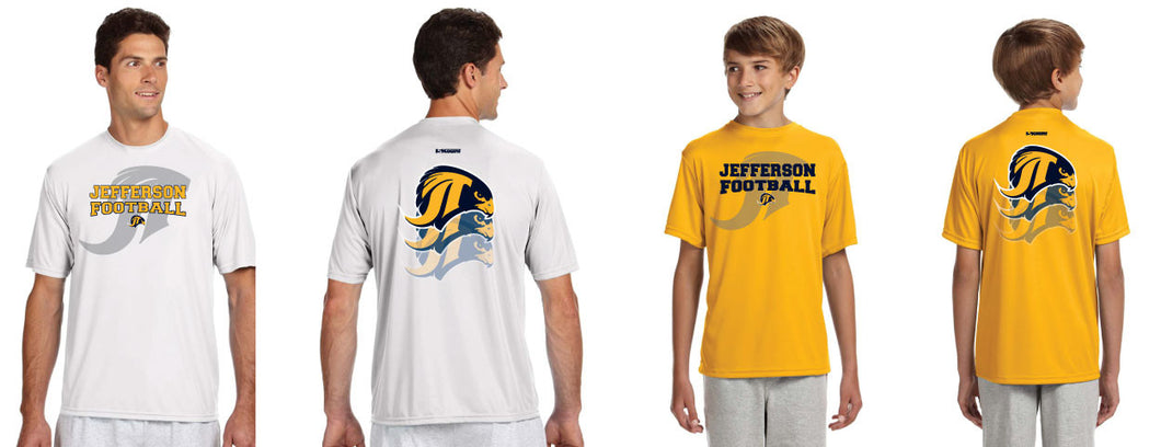 Jefferson Football- DryFit Performance Tee
