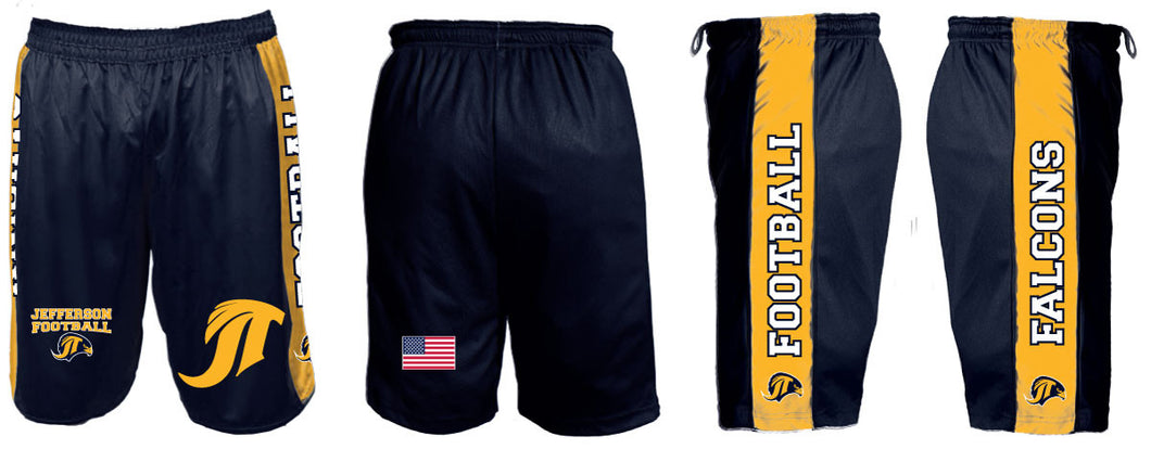 Jefferson Football Sublimated Panel Shorts