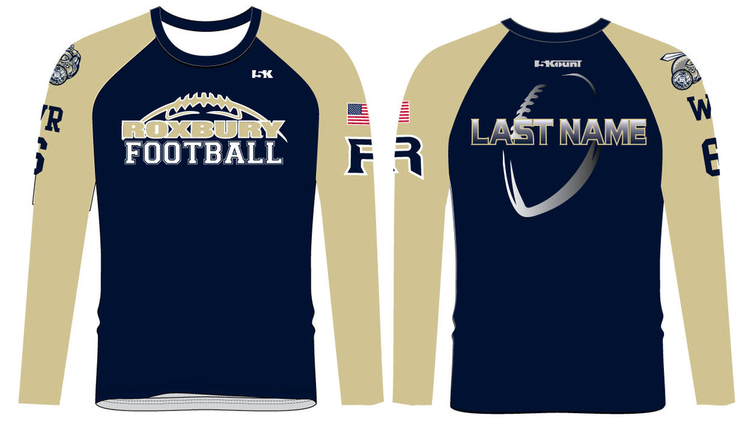 Roxbury Football 2017 Sublimated Raglan Long Sleeve - 5KounT2018