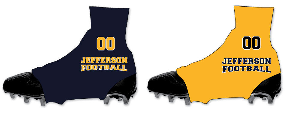 Jefferson Football Spats Cleat Covers 5kount