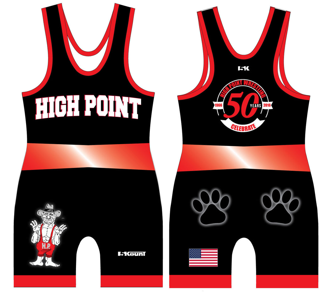 High Point Sublimated Singlet- Black - 5KounT