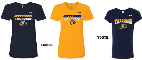 Jefferson LAX Ladies/Girls Cotton Crew Tee