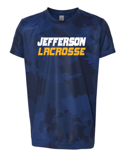 Jefferson LAX  Lazor Camo Tech Tee- Navy