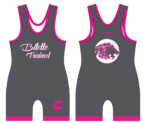 Bitetto Captains Sublimated Singlet - Grey/Pink