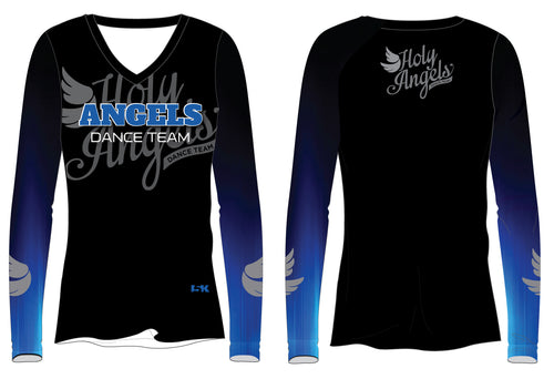 Angels Dance Team Sublimated Long Sleeve Shirt - Black