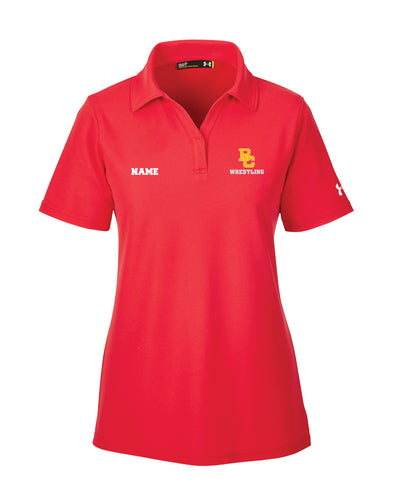Bergen Catholic Wrestling Under Armour Ladies' Corp Performance Polo - Red - 5KounT2018