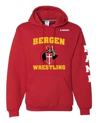Bergen Catholic Wrestling Russell Athletic Cotton Hoodie - Red - 5KounT2018