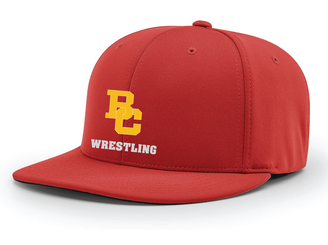 Bergen Catholic Wrestling Flexfit Cap - Red - 5KounT2018