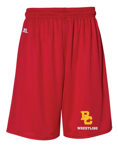 Bergen Catholic Wrestling Russell Athletic Tech Shorts - Red - 5KounT2018