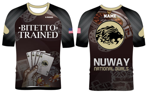 Bitetto Trained NuWay National Duals Sublimated Fight Shirt - 5KounT2018