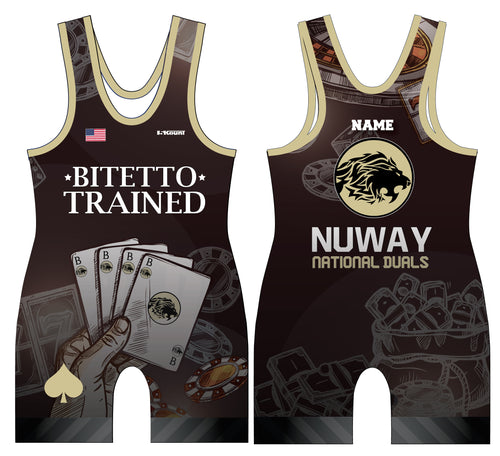 Bitetto Trained NuWay National Duals Sublimated Men's Singlet - 5KounT2018