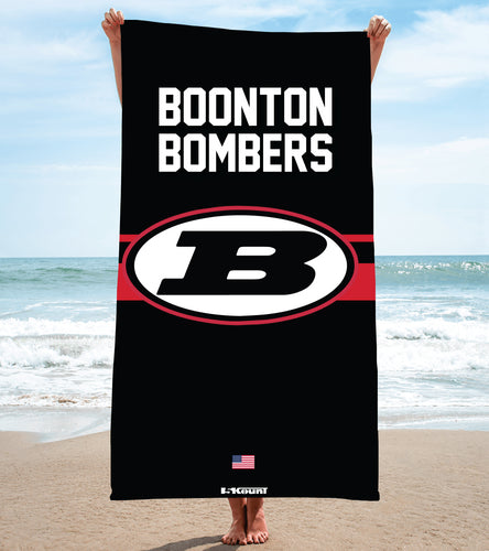 Boonton Bombers Wrestling Sublimated Beach Towel