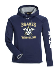 Braves Wrestling Under Armour Men's Double Threat Armour Fleece Hoodie - Navy