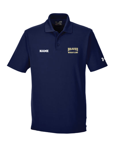 Braves Wrestling Under Armour Men's Corp Performance Polo - Navy
