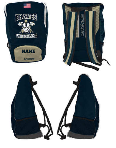 Braves Wrestling Sublimated Backpack - 5KounT2018