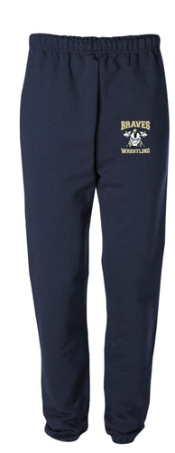 Braves Wrestling Cotton Sweatpants - Navy