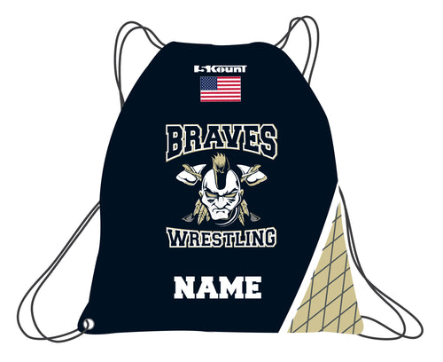 Braves Wrestling Sublimated Drawstring Bag