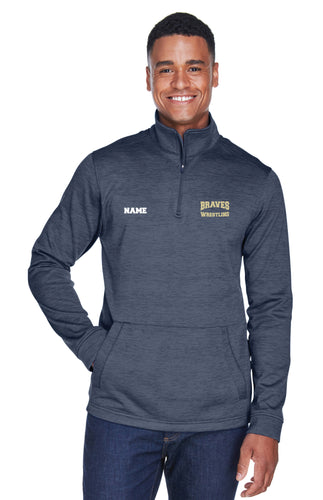 Braves Wrestling Fleece Quarter Zip Men - Navy