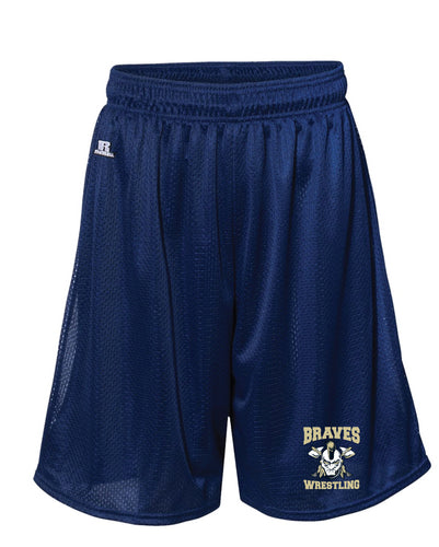 Braves Wrestling Russell Athletic  Tech Shorts - Navy