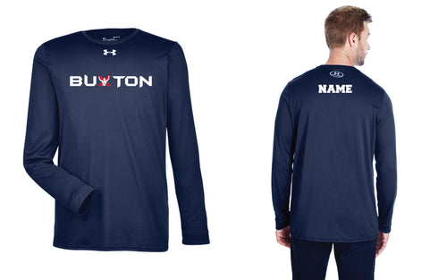Buxton Under Armour Men's Long Sleeve Dryfit T-shirt - Navy - 5KounT2018
