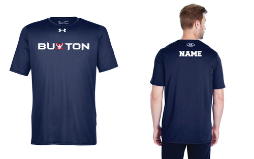 Buxton Under Armour Men's Dryfit T-Shirt - Navy - 5KounT2018
