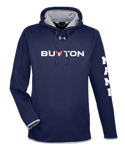 Buxton Under Armour Ladies' Double Threat Armour Fleece Hoodie - Navy - 5KounT2018