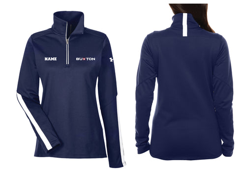 Buxton Under Armour Ladies' Qualifier 1/4 Zip - Navy - 5KounT2018