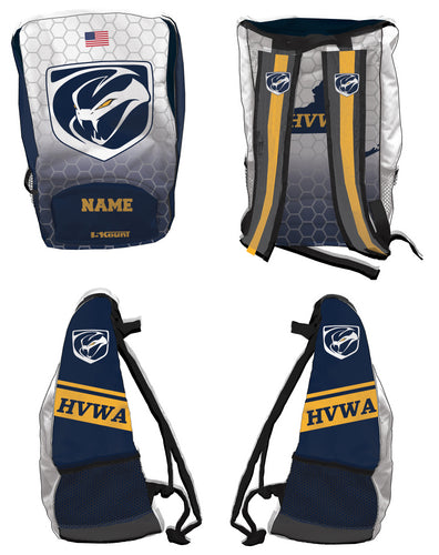 HVWA Sublimated Backpack - White/Navy - 5KounT2018