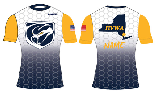 HVWA Sublimated Compression Shirt - White/Navy - 5KounT2018