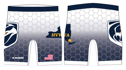 HVWA Sublimated Compression Shorts - White/Navy - 5KounT2018